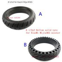 إطار عجلة بإطارات غير هوائية مجوفة مُحدثة 8 1/2x2 for شاومي Mijia M365 سكوتر إطار ممتص للصدمات مانع للانزلاق