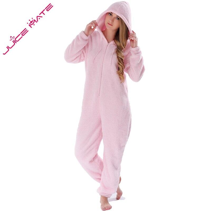 Invierno cálido Pijamas Mujer ropa suave Fleece Jumpsuits ropa de dormir  general Plus tamaño capucha conjuntos de pijamas de Mono para mujer adulto  en de en ... d425e825e1b1