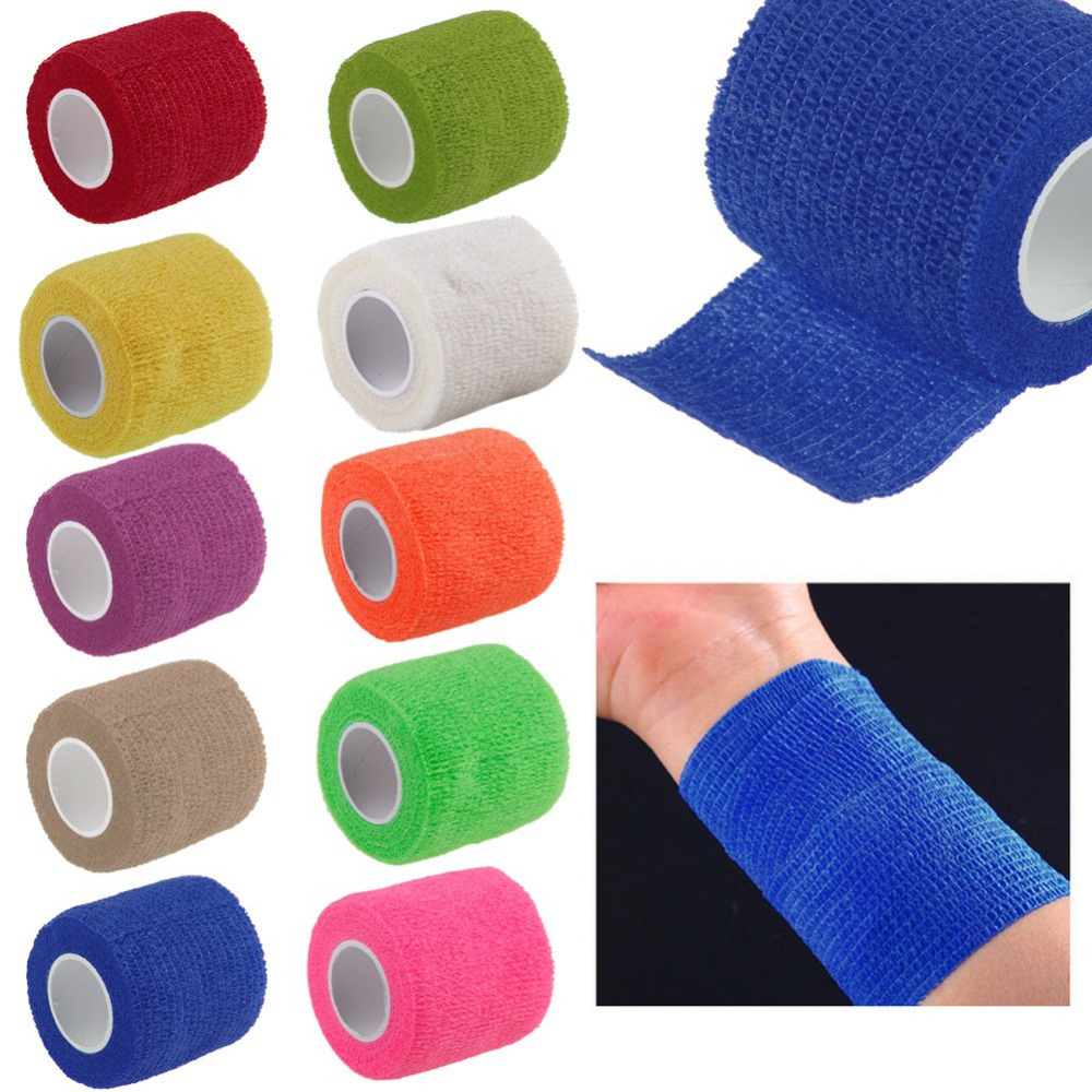Security Protection First Aid Waterproof Self-Adhesive Elastic Bandage Cohesive 90pcs lot security protection self adhesive waterproof bandage elastic cohesive sports tape joint support sticker 5cm 5m