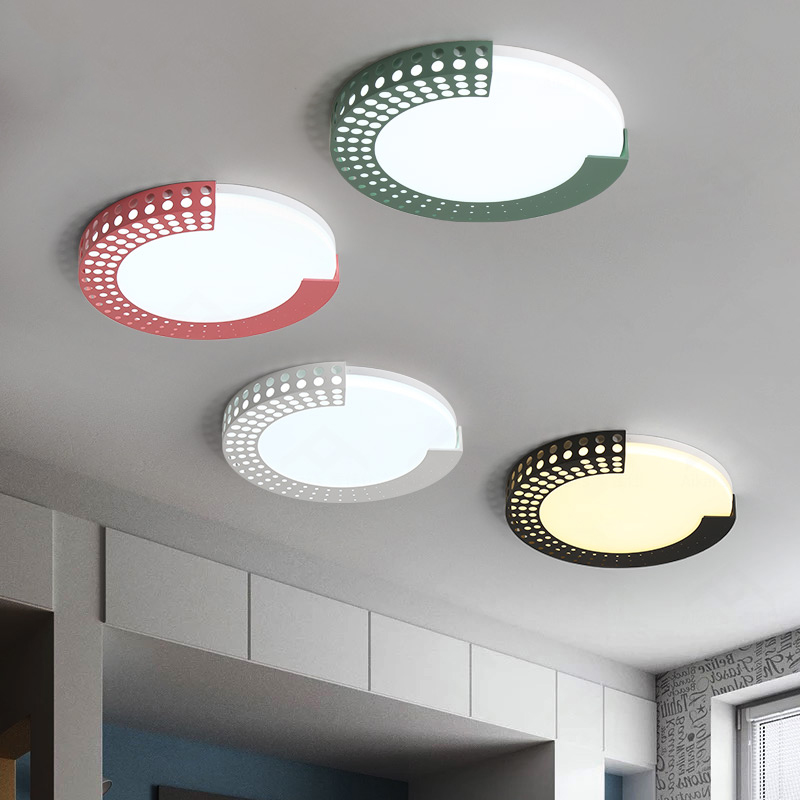 Living Room Bedroom Modern LED Ceiling Lights Lamp surface mounted Round light fixtures AC90-265V Ceiling Lamp for children room round thin iron acrylic geometry ceiling light fixture surface mounted modern simple plafon lamp for hallway bedroom living room