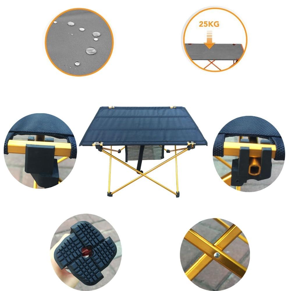 Kültéri kemping összecsukható asztal alumínium ötvözetből - Bútorok - Fénykép 2