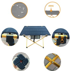Image 2 - Outdoor Camping Folding Table with Aluminium Alloy  Table Waterproof Ultra light Durable Folding Table Desk For Picnic& Camping