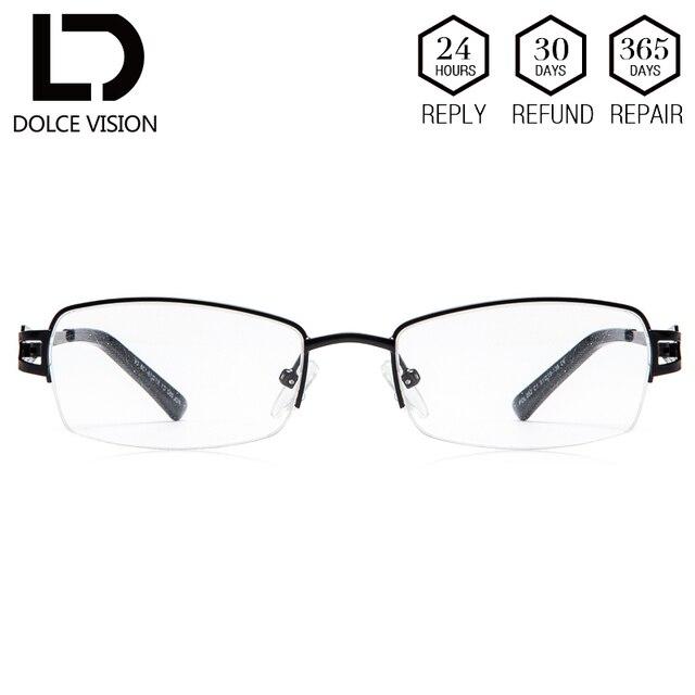 d2cee07fbce DOLCE VISION Retro Prescription Glasses Man Lightweight Half Frame Myopia  Eyeglasses Transparent Lenses Men Astigmatism Glasses