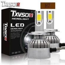 TXVSO8 2PCS Car Headlight Bulbs H7 Led H1 H 11 H13 Kits Flip COB Chips 55W 20000LM 6000K Led Fog light Bulb luces led para auto p6 philips chips 55w 4500lm led car headlight car headbulb