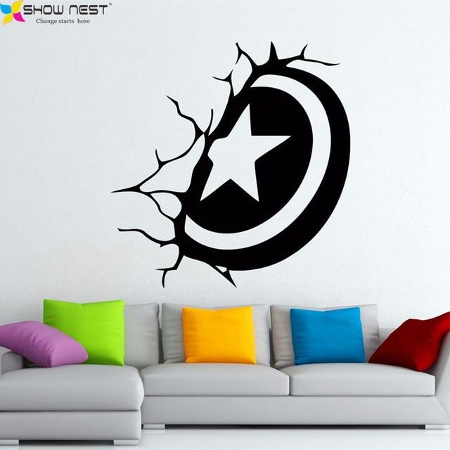 Captain America Shield Wall Decal Vinyl Sticker