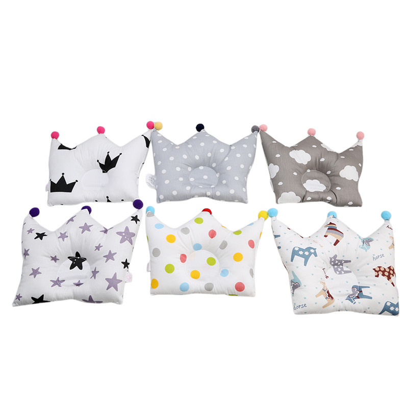 Baby Pillows Baby Room Decor Soft Cotton Star Crown Pad Newborn Breastfeeding Nursing Pilow For Baby Bed 0-12months