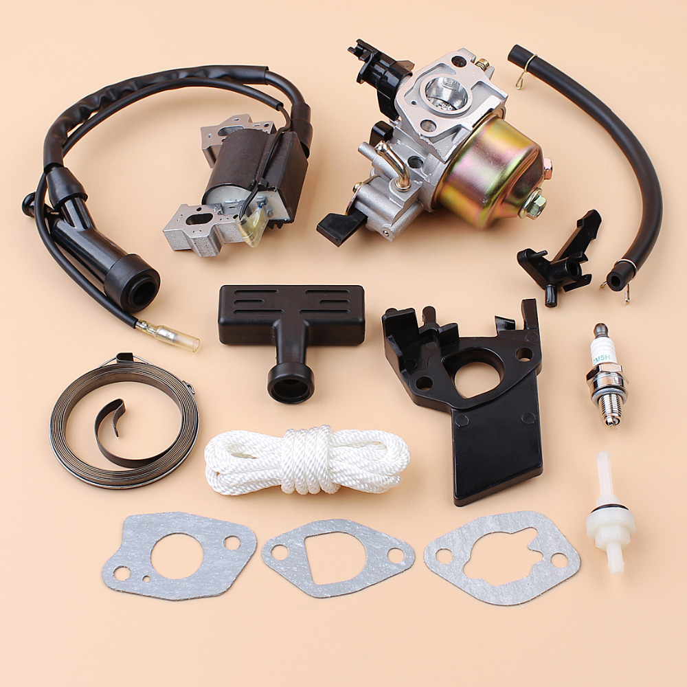 Carburetor Carb Ignition Coil Module Starter Spring Handle Rope Kit For Honda GX200 GX160 168F GX 160 200 2-3KW Engine GeneratorCarburetor Carb Ignition Coil Module Starter Spring Handle Rope Kit For Honda GX200 GX160 168F GX 160 200 2-3KW Engine Generator