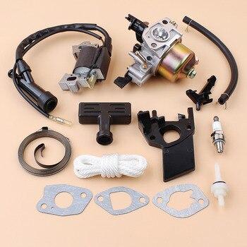 Carburetor Carb Ignition Coil Module Starter Spring Handle Rope Kit For Honda GX200 GX160 168F GX 160 200 2-3KW Engine Generator carburetor conversion kit for honda gx160 168f ec2500 c cl cx series generator genset gasoline lpg cng dual fuel