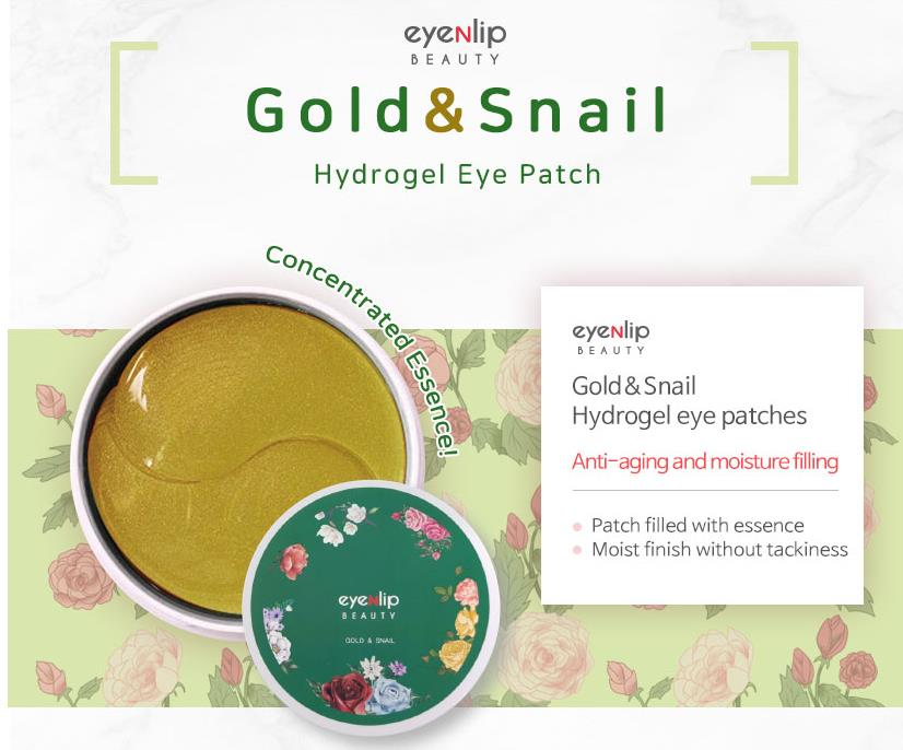 Treatments & Masks Korea Cosmetics Eyenlip Hydrogel Eye Patch 1pcs Gold Snail Collagen Eye Mask Hyalurinic Acid Anti Puffiness Skin Care Face Mask 2019 Official