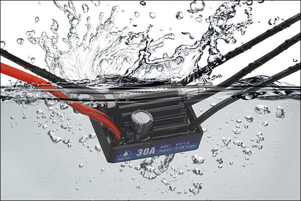 F18580 Hobbywing Seaking controlador de velocidad de Motor sin escobillas CES 30A V3 impermeable para RC barco