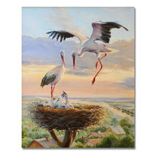 Crane Animal Home Decor DIY Cool Painting By Numbers Unique Gift Coloring Number Picture Canvas Lovely Wall