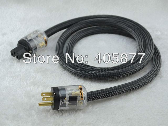 Привет-End кабель питания powerline с P029 + C029 позолоченными США силовые разъемы 1.5 м