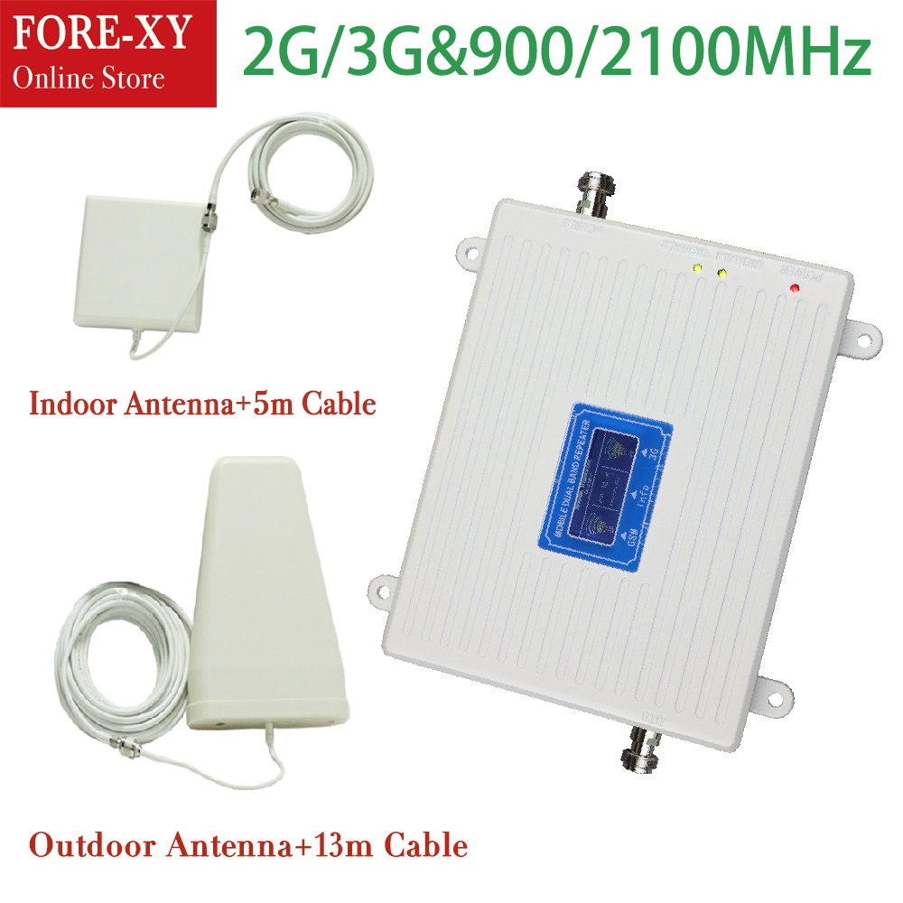 GSM 2G 3G Repeater Dual Band GSM900 WCDMA 2100 Cellular Signal Booster Cellphone Amplifier 900mhz 2100mhz mobile UMTS RepeaterGSM 2G 3G Repeater Dual Band GSM900 WCDMA 2100 Cellular Signal Booster Cellphone Amplifier 900mhz 2100mhz mobile UMTS Repeater