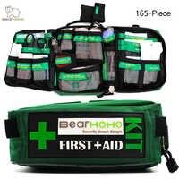 Kit de primeros auxilios de BearHoHo práctico bolsa de 165 piezas ligeras de rescate médico de emergencia al aire libre equipaje de coche Escuela de senderismo Kits de supervivencia