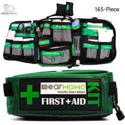 BearHoHo удобная сумка для аптечки, 165 шт., легкие аварийные медицинские спасательные уличные автомобильные багажные школьные походные наборы д...