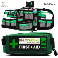 BearHoHo Handy First Aid Kit Bag 165 Piece Lightweight Emergency Medical Rescue Outdoors Car Luggage School Hiking Survival Kits