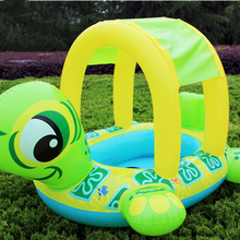 Детское солнцезащитное кольцо для плавания черепаха плавающая Летняя Детская безопасность сиденье надувной плавательный бассейн floaties плавательный тренажер