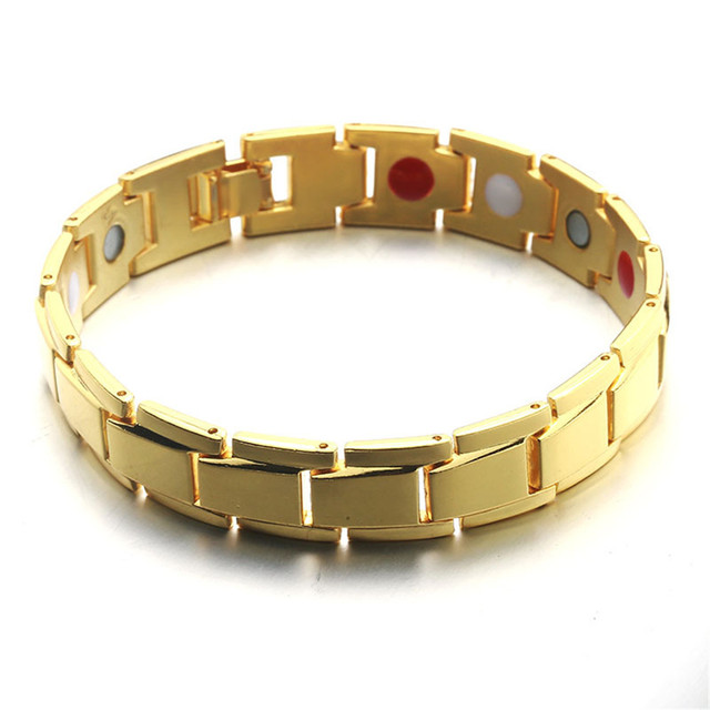 Men magnetic hematite copper alloy therapy bracelet 20.5 cm