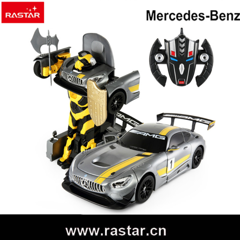 Rastar Car 1:14 High Quality RC Deformation Robot Car USB Charge Remote Control Changeable Robot Car Toy For Children Gift car transformers deformation robot transformers bumblebee model car toys for children