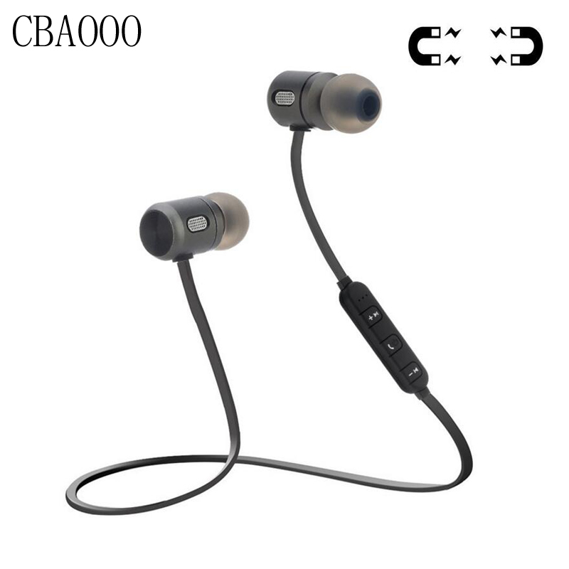 CBAOOO Deporte Wireless Bluetooth Auriculares Bluetooth Magnética 4.2 auriculares Estéreo de Auriculares Auriculares Con Micrófono Para El Teléfono