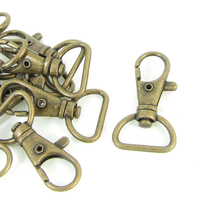 10pcs( NEWBRAND Bronze Tone Metal Handbag Strap Ornament Wearing Snap Hook 10 Pcs