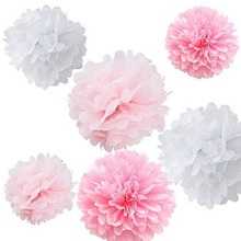 Multicolor 6inch 5pcs Paper Flowers Ball Wedding Home Birthday Party Car Decoration Tissue Pom Poms Lantern