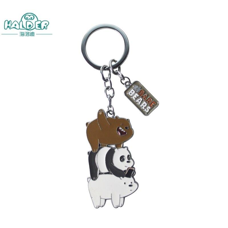 Гальдер Мы Голые Медведи кольцо Фигурки игрушки три Голые Медведи гризли, панда Медведь Подвески безделушки украшения для школьный