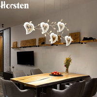 Romantic Love Heart LED Pendant Lights 120cm 5 Heads 25W Creative Personality Bar Cafe Lighting Dining Room Pendant Lamps 220V