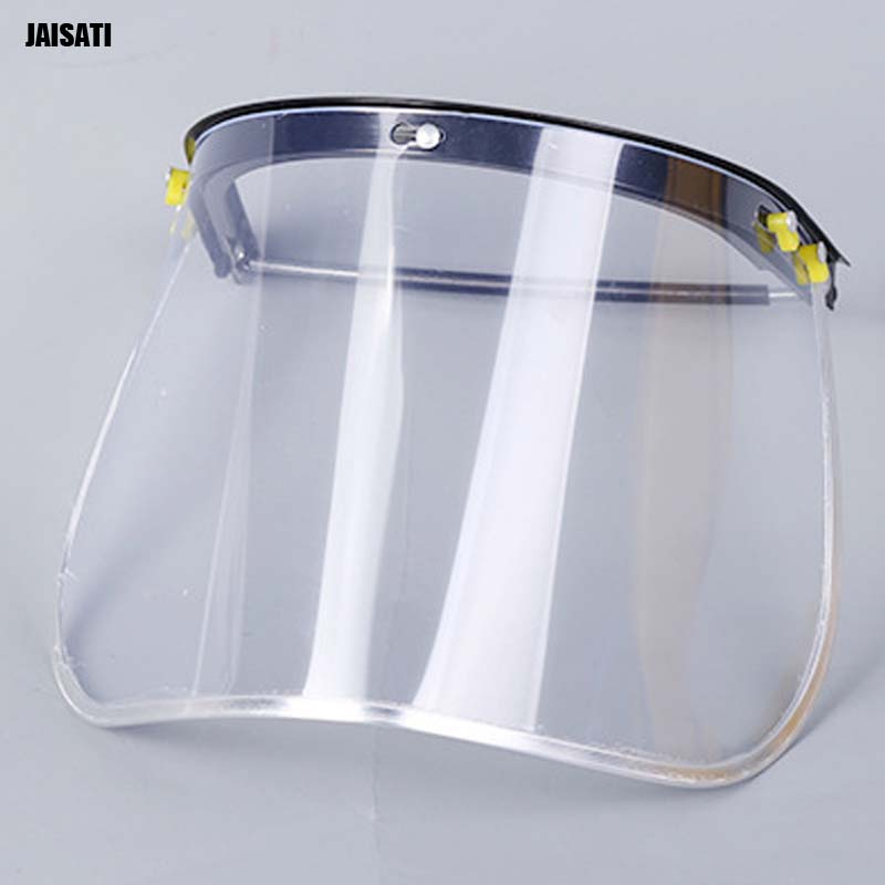 JAISATI PVC face metal heat-resistant transparent edge mask with helmet-type protective masks medical aseptic disposable face mask parts of atomizer compaction type mask child baby face mask