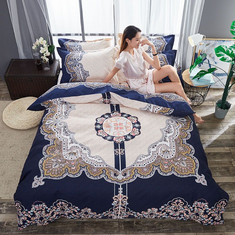 Retro Palace classics Printed Bedding set Soft personal Comfortable Duvet Cover Bed Sheet Pillowcases Twin Full Queen size 4PcsRetro Palace classics Printed Bedding set Soft personal Comfortable Duvet Cover Bed Sheet Pillowcases Twin Full Queen size 4Pcs