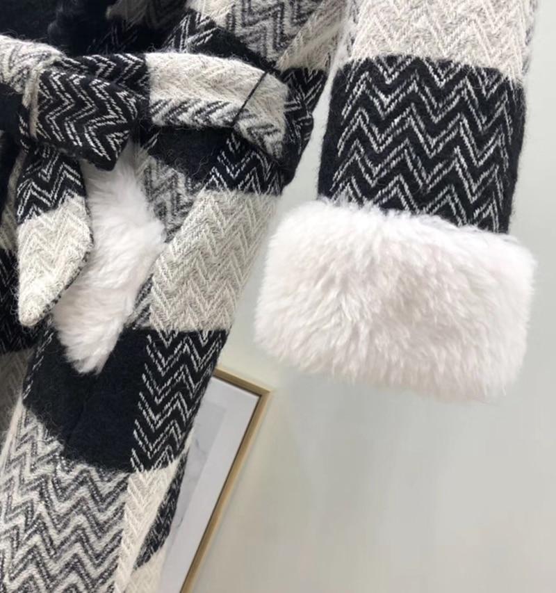 Vêtements Vestes Plus Outwear Mouton Réel Lingerie Parka 2018 Manteau Hiver Red Femmes De Coréenne La Taille black Fourrure Xq1wP6