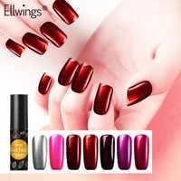 Ellwings esmalte de Gel de uñas titanio espejo rojo laca Metal brillante arte de uñas brillo barnices híbrido necesita capa Base de plata