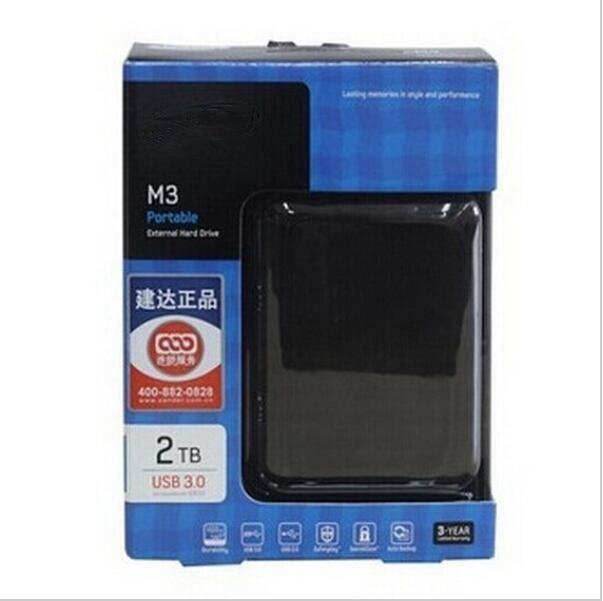 500GB 1TBNew USB3 0 External Hard Drive 2TB Black HDD hdd Portable disk Hot sales 3