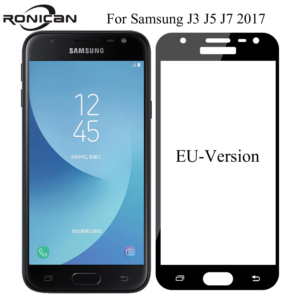 Full Cover Tempered Glass For Samsung J3 J5 J7 2017 SM-J330 J530 J730 Screen Protective Glass Film For SM J330F J530F J7 2017