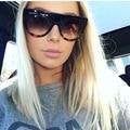 Señoras de la manera de gran tamaño cat eye sunglasses mujeres diseñador de la marca de lujo de la vendimia marco grande gafas de sol de tom femenino oculos uv400