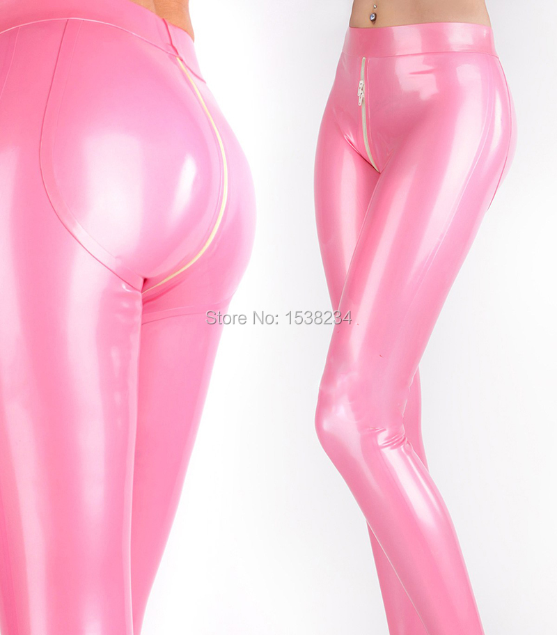 Latex Leggings  Women 3d HIPS CUT crotch Zip Customized