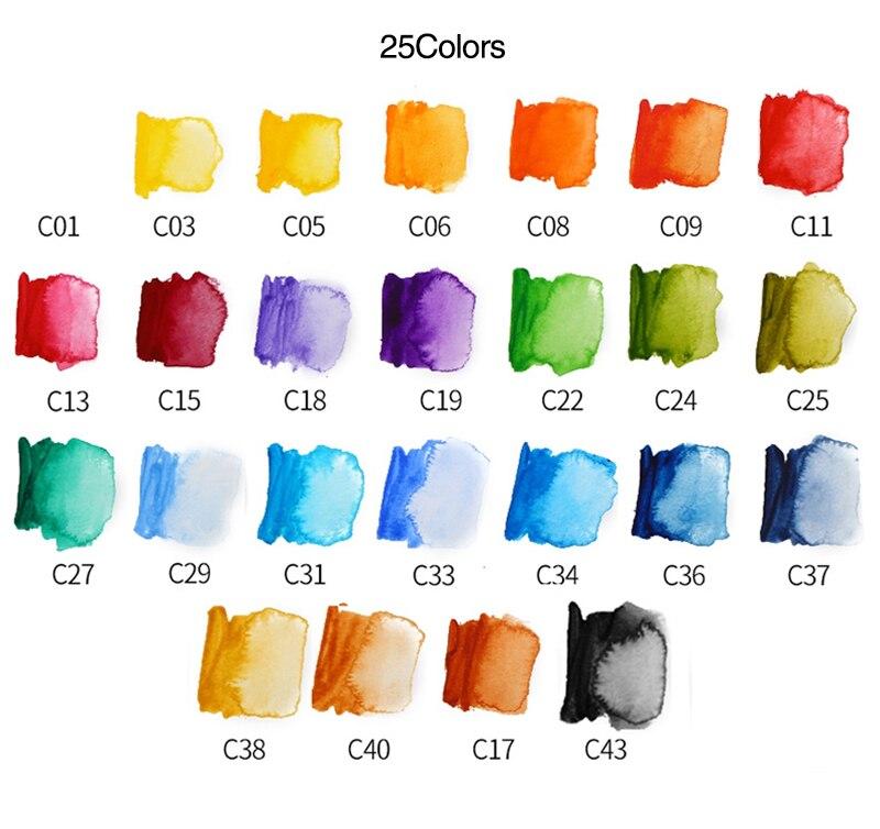 18253342 cores conjunto de aquarela sólida redemoinho