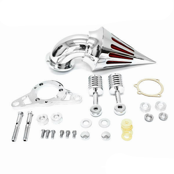 Air Cleaner Filter for Harley Softail Fat Boy Dyna Street Bob Wide Glide Touring Chrome Air Cleaner Kits filter Motorcycle chrome motorcycle spike air cleaner filter case for harley softail rocker cross bones 2008 2009 touring softail dyna 2004 2007