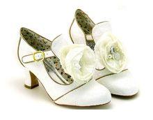 Exquisite unique women's wedding party shoes lace flower decoration high quality bridesmaids bridal anke strap SH 063