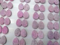 50pcs 10 20mm Titanium Agate beads Druzy Agate teardrop peach oval egg Beads Pendants Drusy Quartz Cabochons Charms Necklace Jew