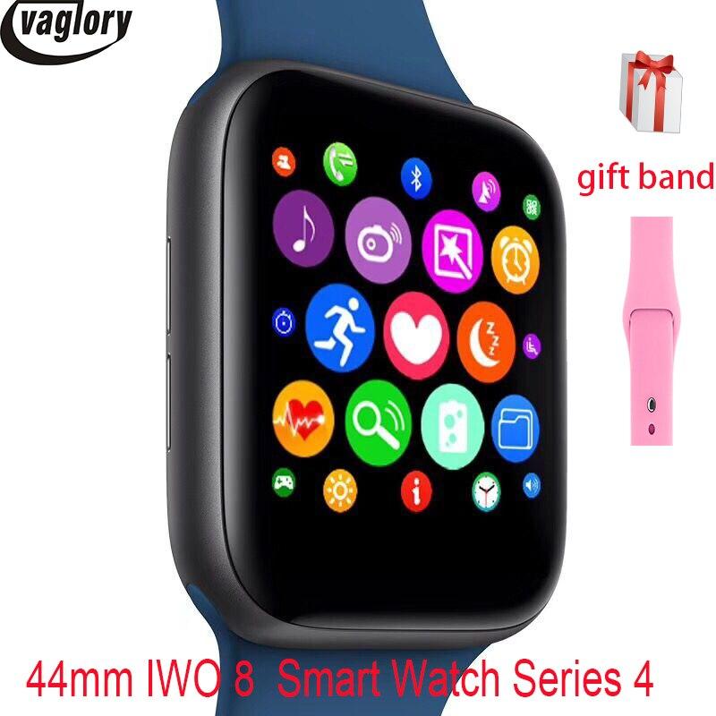 IWO 8 Smartwatch tout nouveau Design 44mm boîtier montre série 4 pour téléphone 6 7 8 Xiaomi Huawei soutien SMS synchroniza montre intelligente