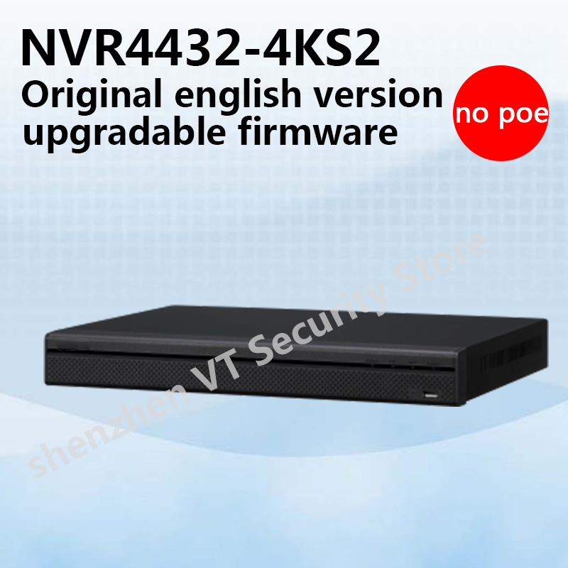 Free shipping English version 32Channel 1.5U 4K&H.265 Lite Network Video Recorder NVR4432-4KS2