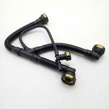 цена на 10pcs/lot Crankcase Breather 4 Hose Pipes for Peugeot 206 207 307 308 408 for Citroen C2 C-quatre 1.6 16V TU5JP4 Engine