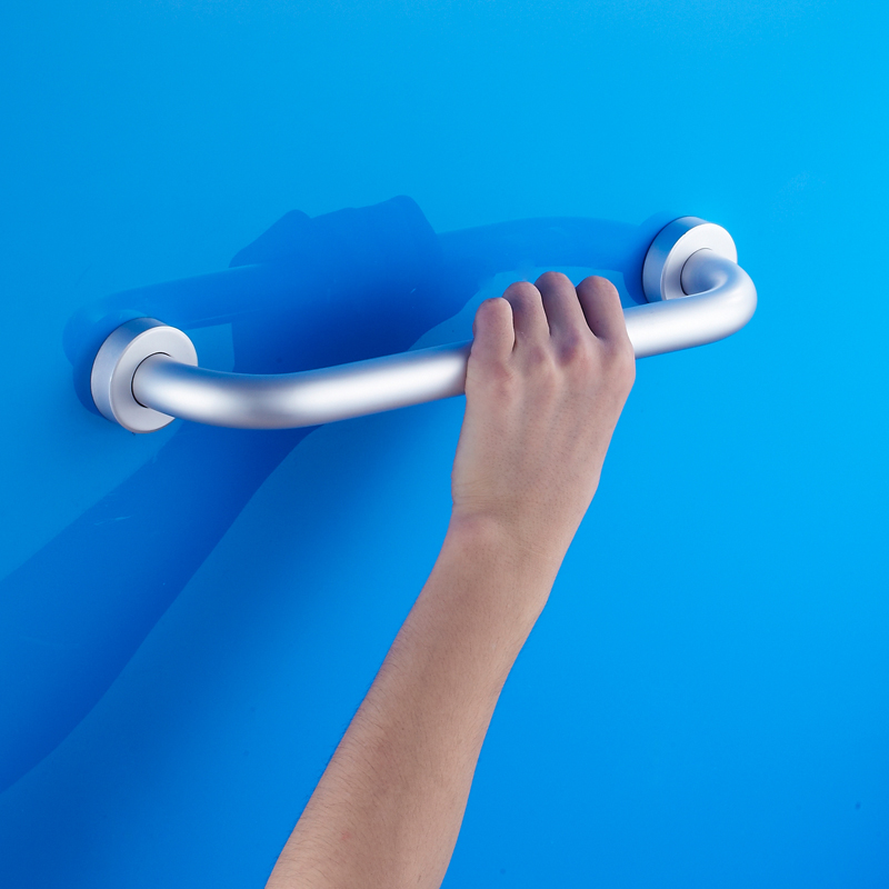 European Nordic Classic Modern Space Aluminum Handrails Bathroom Toilet  Bathtub Handrail Non Slip Handle Safety