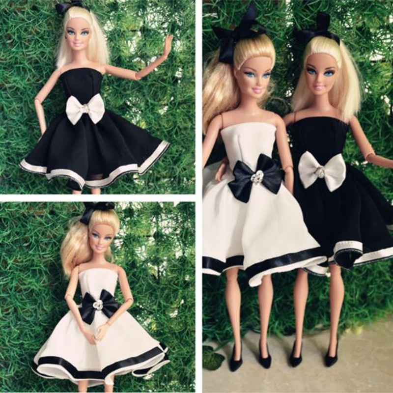 CXZYKING 2017 New Barbie Wedding Dress Fashion Clothing Gown For Barbie Doll Barbie Clothes Outfits Barbie Skirt 5piece 100