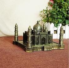 India Taj Mahal Decoration metal crafts world landmark architectural model creative home