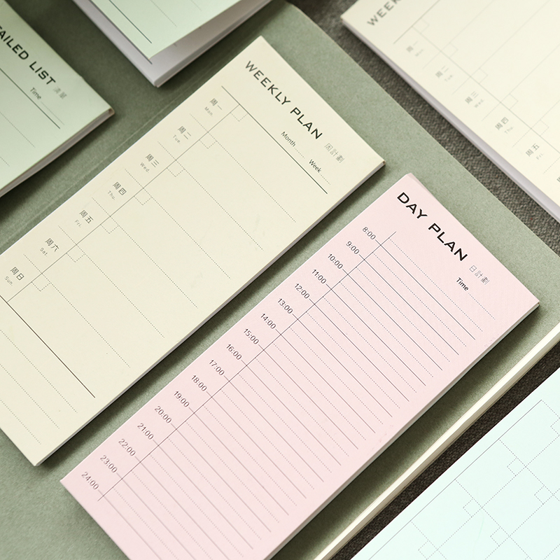 New Desk Weekly Daily Planner Cartoon Sticky Notes Stickers Post It Paper Korean Stationery To Do List Office Supplies never watercolor collection sticky notes set memo pad set post it diary stickers fashion stationery office and school supplies