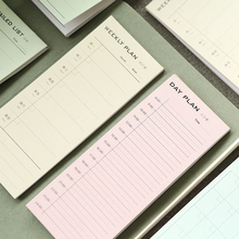 New Desk Weekly Daily Planner Cartoon Sticky Notes Stickers Post It Paper Korean Stationery To Do List Office Supplies