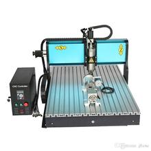 Free DHL JFT Industrial Desktop Milling Machine 4 Axis 2200W with USB Port Wood Router for Sale 6090