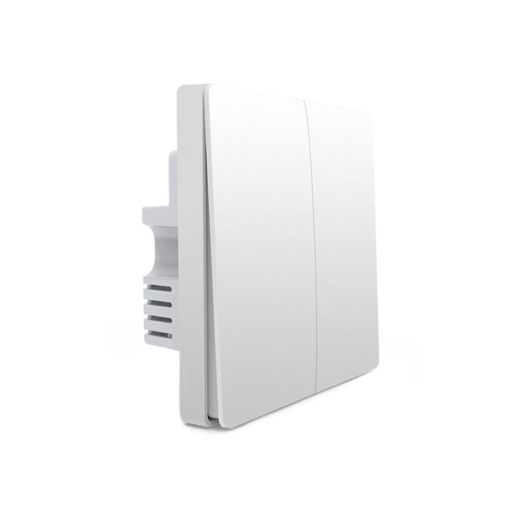 2018 Xiaomi Aqara Mijia Smart home Light Control ZiGBee Wireless Key and Wall Switch Via Smarphone APP Remote By Xiaomi xiaomi mijia yeelight ceiling light led bluetooth wifi remote control fast installation for xiaom mi home app smart home kit